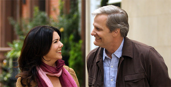 Jeff Daniels a Lauren Graham vo filme The Answer Man