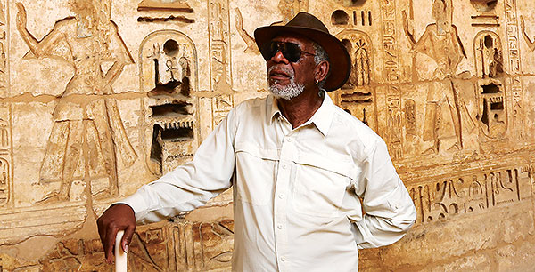 Morgan Freeman v Egypte